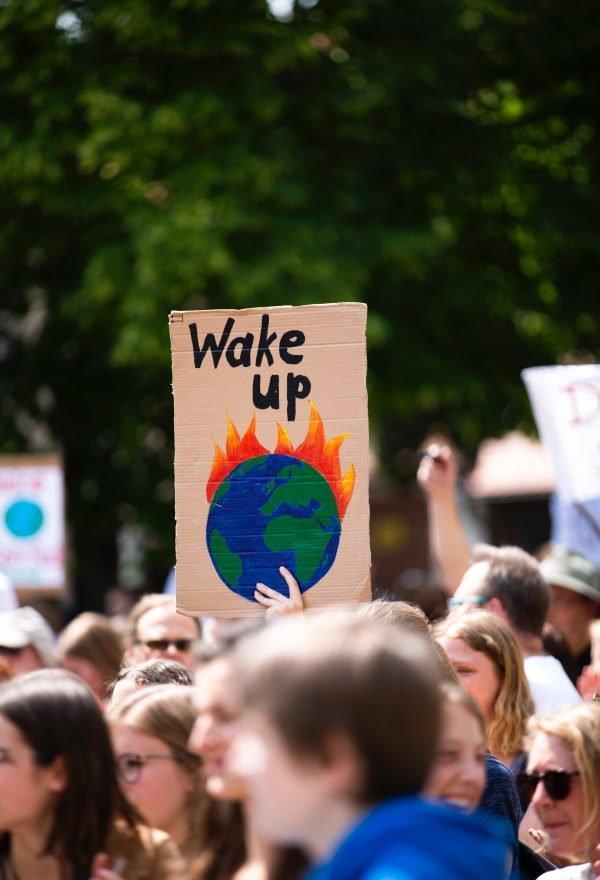 Børn under klima-demonstration